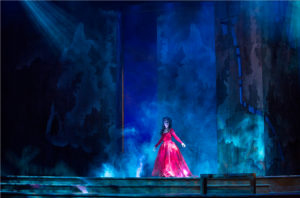 Kelsey Wheatley as the Ravenswood Ghost in POV's Lucia di Lammermoor (photo by David Cooper)