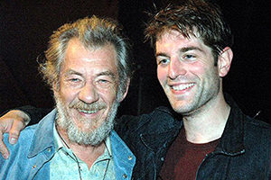 Ross with Sir Ian McKellen
