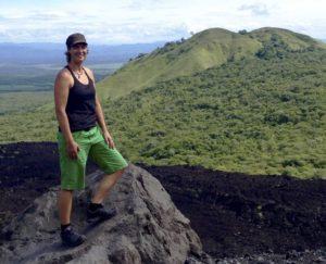 Heather Clark at Nicaragua's Cerro Negro volcano