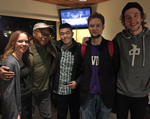 Marie Klazek (left) with Wynton Marsalis & Music students