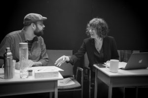 Phoenix alumna Erin Macklem (right) working with co-creator Brad L'Écuye on This Little Light