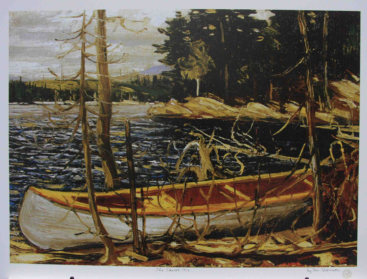 Image result for tom thomson canoe lake