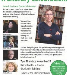 Join Us For A Literary Celebration of Lorna Crozier