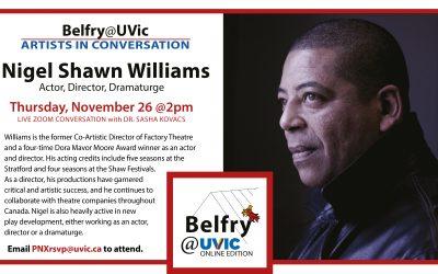 Belfry@UVic: Nigel Shawn Williams