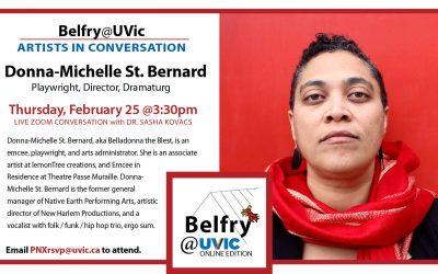Belfry@UVic: Donna-Michelle St. Bernard