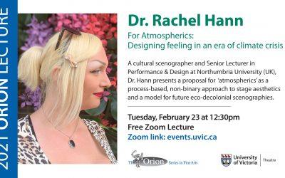Orion Lecture Series: Rachel Hann