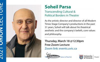 Orion Lecture Series: Soheil Parsa